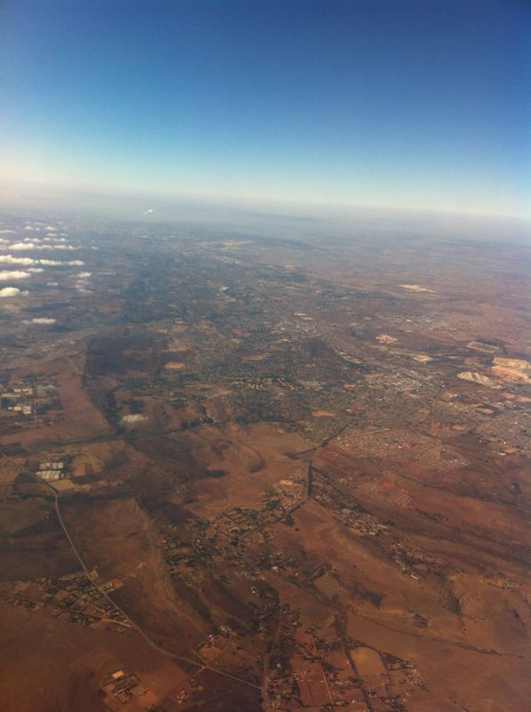 Flying to Cape Town