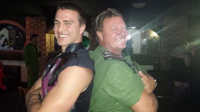 Gareth and Uncle Glen at Taylor's 21st this past weekend